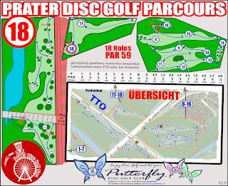 Putterfly Parcoursplan Disc Golf Prater V3.0 - 18 Holes ab 10-2018