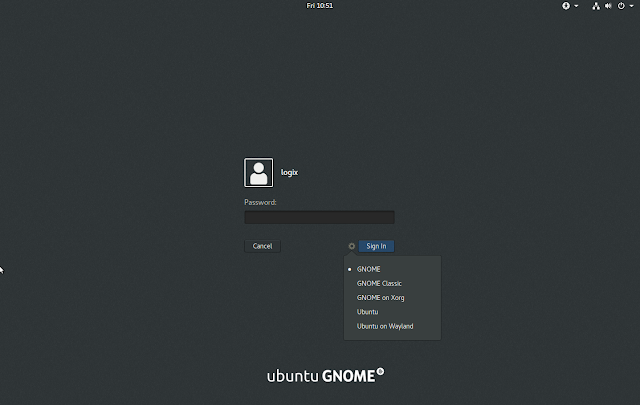 Ubuntu GDM Login vanilla gnome session