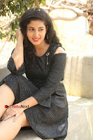 Telugu Actress Pavani Latest Pos in Black Short Dress at Smile Pictures Production No 1 Movie Opening  0134.JPG