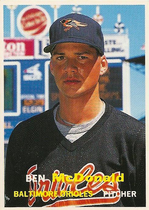 Orioles Card O The Day Ben Mcdonald 1991 Scd Baseball