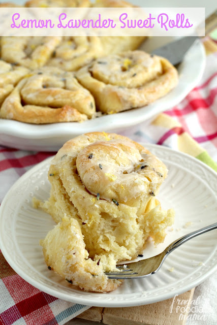 These Lemon Lavender Sweet Rolls combine tart lemon with delicate lavender making them the perfect addition to a spring weekend brunch.