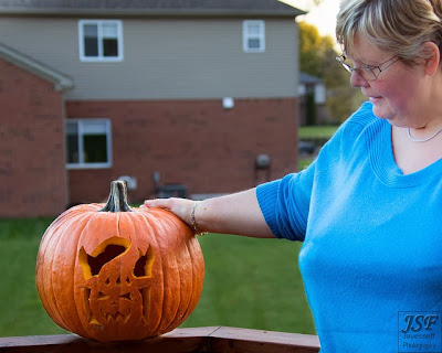 Pumpkin carving 2 - Photo by Jonathan Frings - Deborah's Gems
