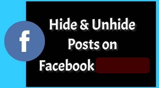 Hide Unhide Facebook Post