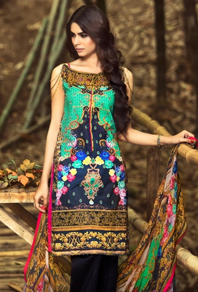 Zahra Ahmad Lawn Summer Collection 2016-2017