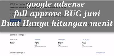 Akun google adsense bug haram