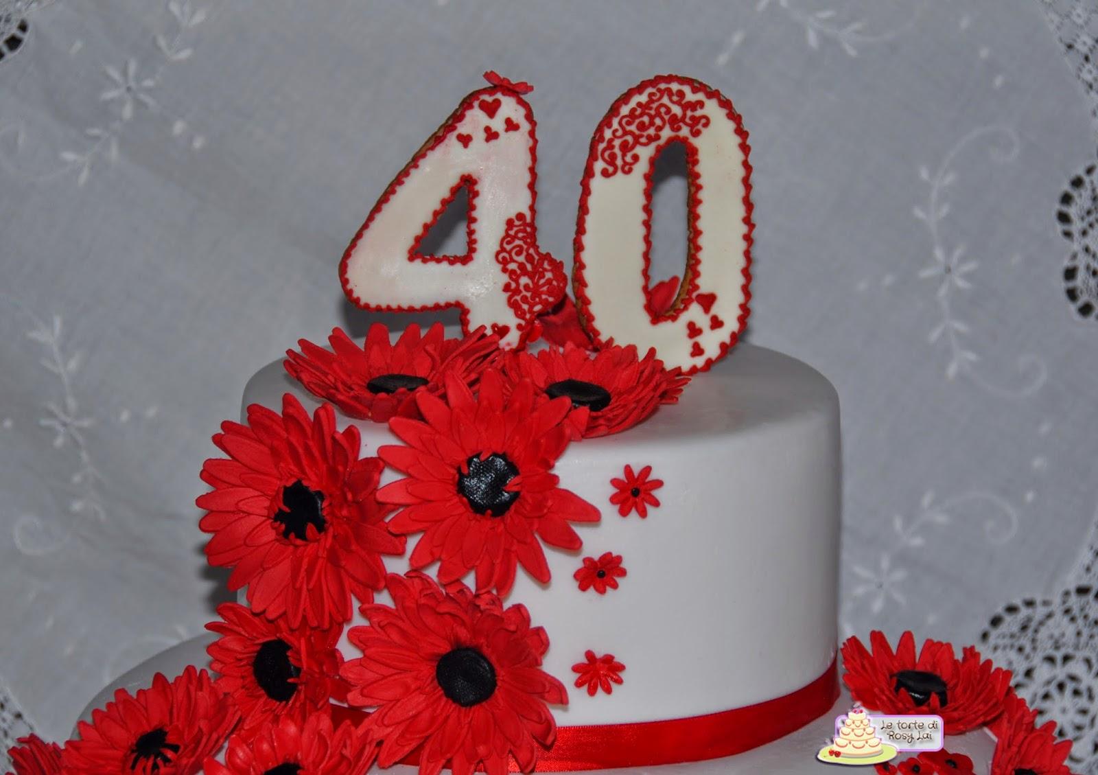 Le torte di rosy lai torta anni gerbere rosse