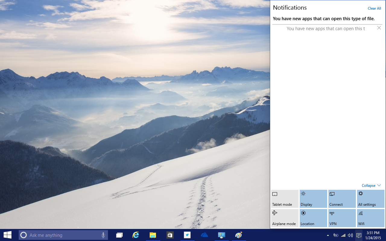 windows-10-build-9926-action-center