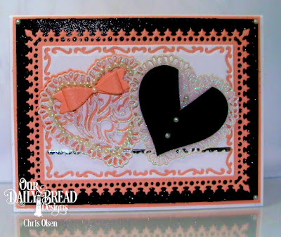 Our Daily Bread Designs, designed by Chris Olsen, Bitty Borders, Layering Hearts, Small Bow, Tulip Hearts, Lavish Layers, Pierced Rectangles