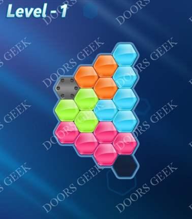 Block! Hexa Puzzle [5 Mania] Level 1 Solution, Cheats, Walkthrough for android, iphone, ipad, ipod