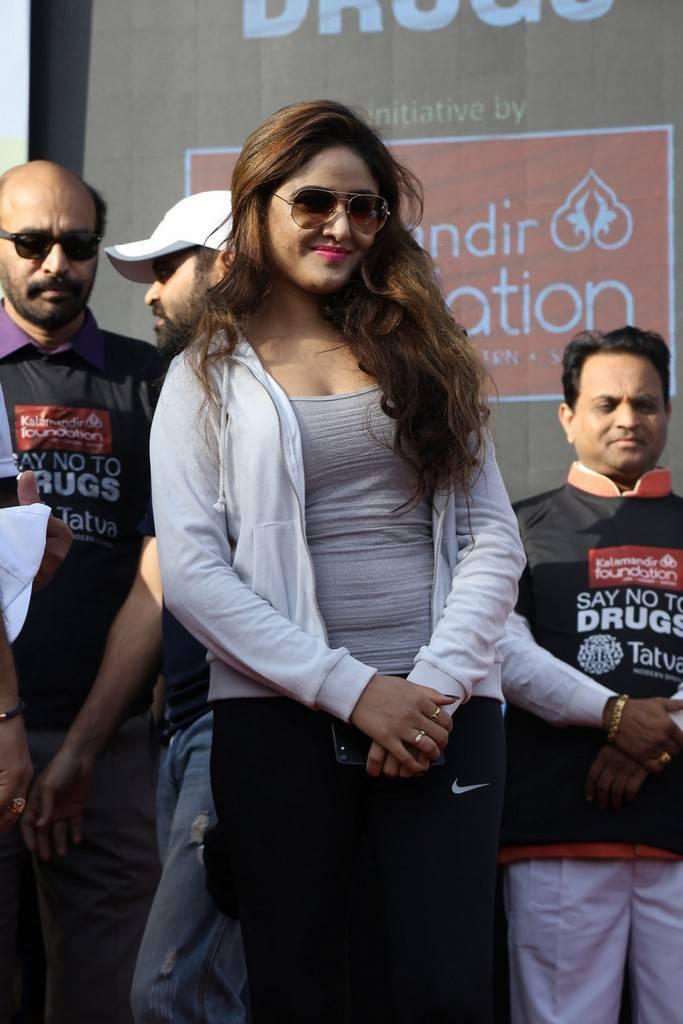 Sony Charishta In White Coat At Anti Drug Walk Campaign