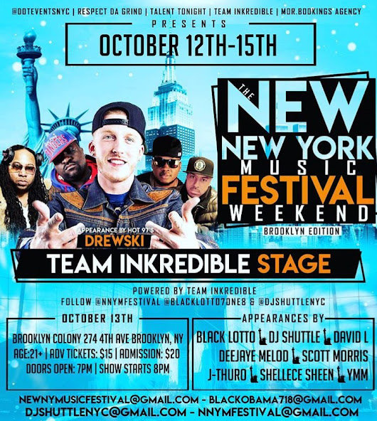 "THE ""NEW NEW YORK MUSIC FESTIVAL!"" OCT 12th - 15th"