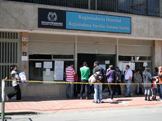 Registraduría Antonio Nariño en Bogota