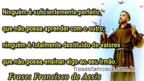 Frase de Francisco de Assis