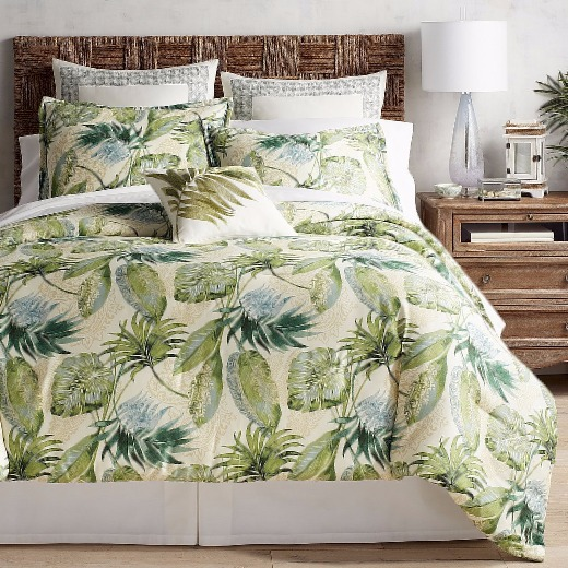 Tropical Palm Leaf Bedding