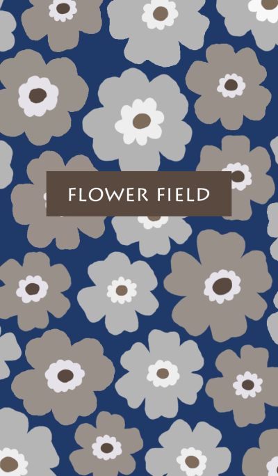 flower field-navy
