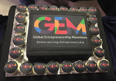 Source: GEM Facebook page. Cake with GEM logo.