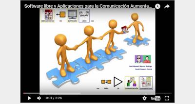 """Videopresentación sobre """"Software libre y aplicaciones para CAA"""" que utilizan recursos de ARASAAC"""