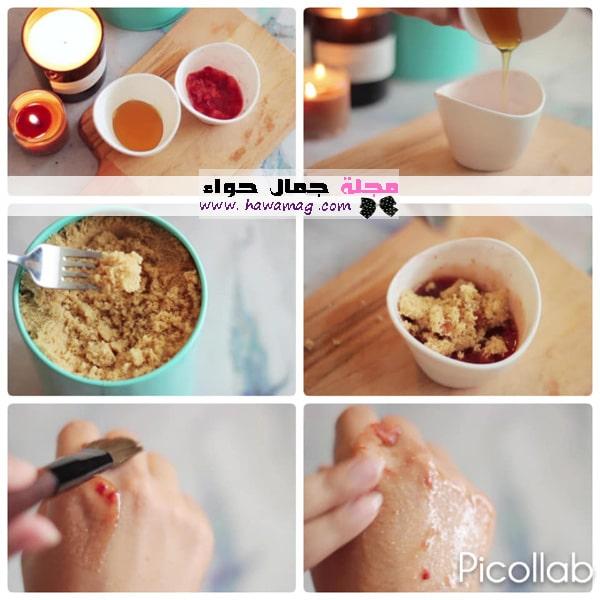 ماسك الفراولة والعسل لتفتيح البشرة
