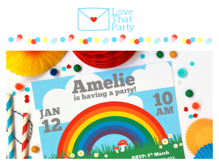 Love That Party - Birthday Invitations and Party Decorations