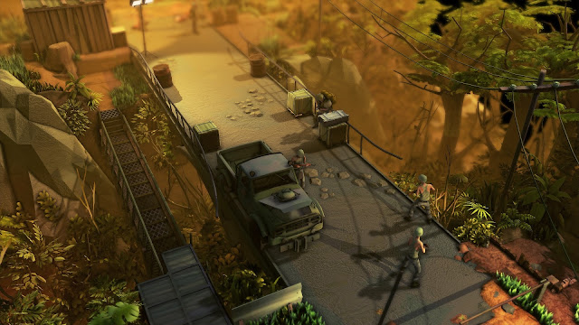 Jagged Alliance Rage - bridge - terrible cartoonish graphics