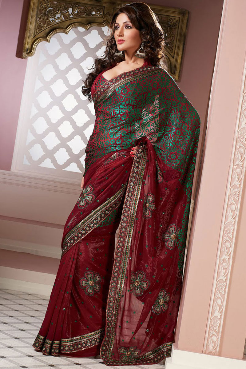Saree Designs : Latest Collection of Indian Net Designer ...