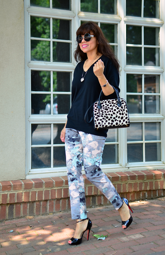 Outfit with paint splatter prints