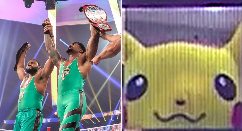 Imagem de Pikachu aparece nas telas do WWE ThunderDome durante o SummerSlam