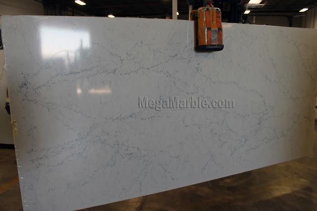 White Attica Caesarstone Quartz Countertops