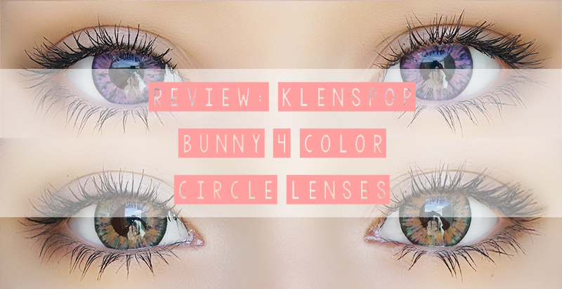 [Review] Klenspop Bunny 4 Color OG11 Brown & OG16 Violet Circle Lenses
