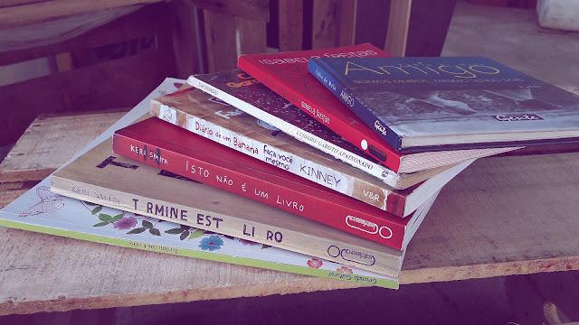 Minha mini coleção de livros