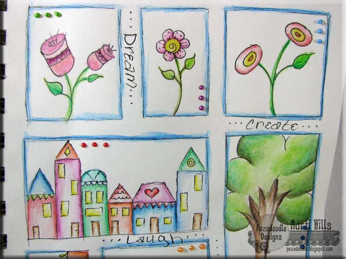 Pez-A-Doodle Designs: watercolor pencil fun today!