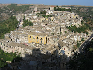 The city of Ragusa occupies a spectacular setting on a rugged hillside in southeastern Sicily