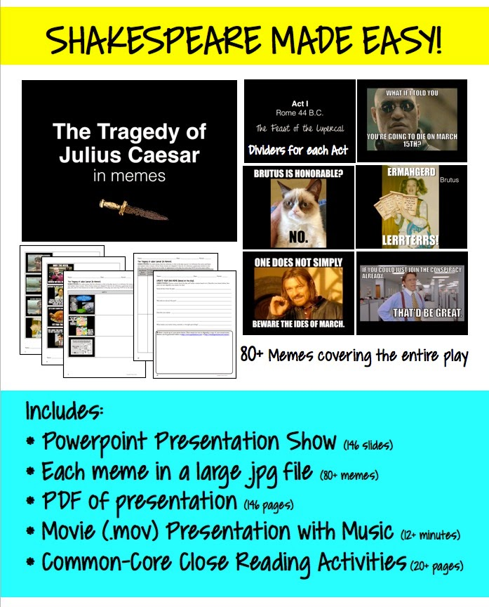 The Tragedy of Julius Caesar in Memes {Shakespeare Made Easy}
