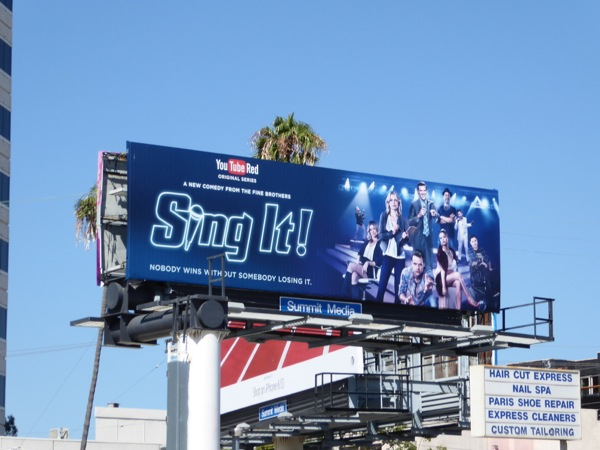 Sing It YouTube Red series billboard