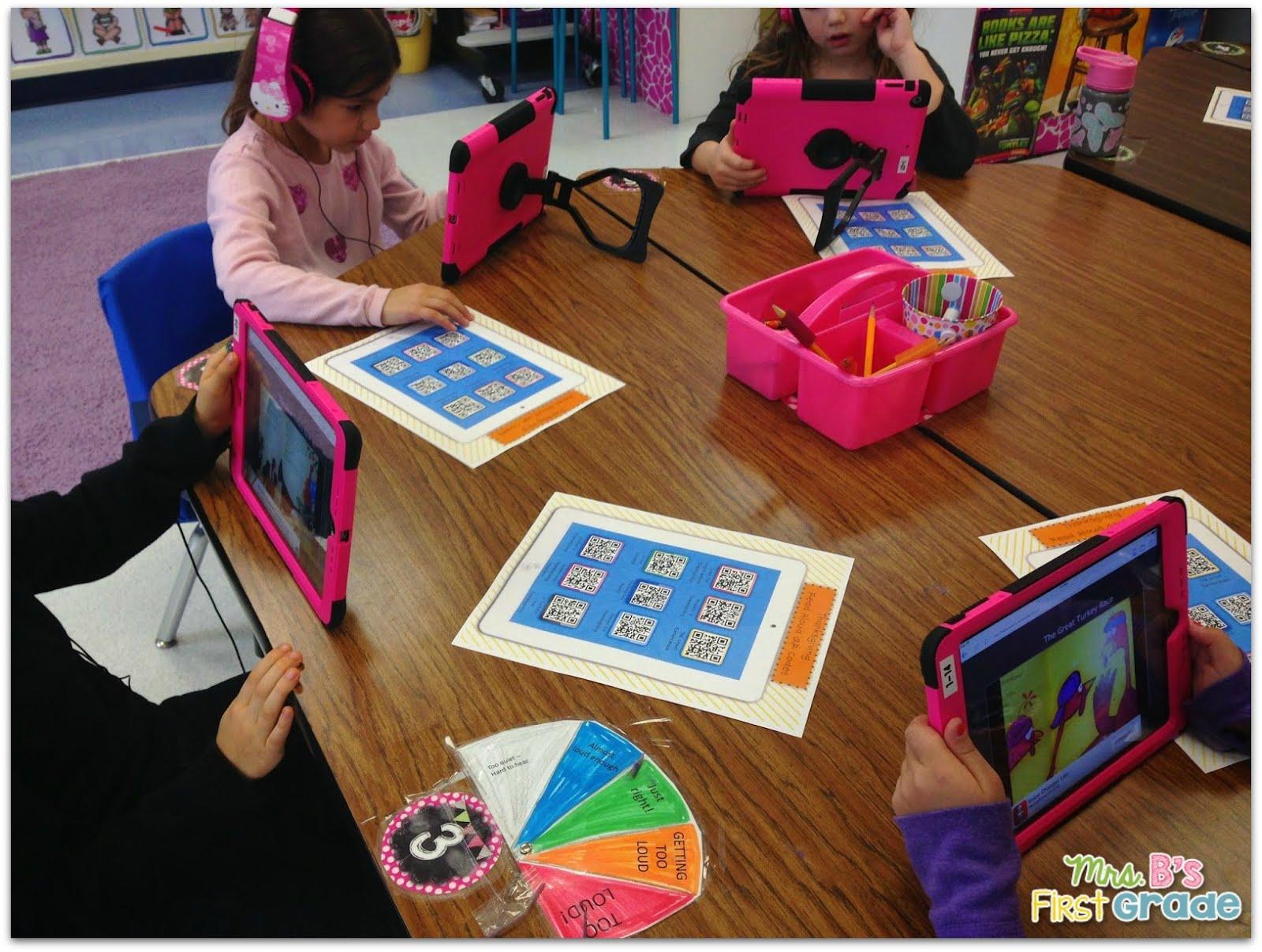 QR Read Alouds Listening Center - Mrs  B's First Grade