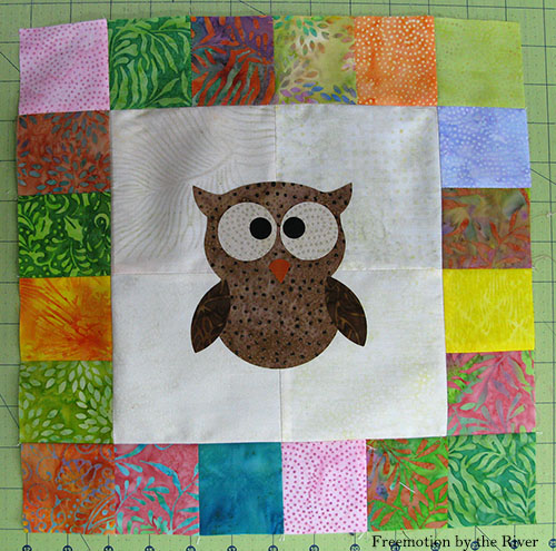Owl ready for appliquing