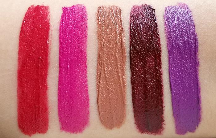 AVON Mark - Liquid Lip Lacquer Matte- Swatches & Review 10 Colours / Farben - Head Turner - TKO - Dare to Bare - Passion It - Fabulosity  3