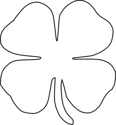 Crystal Panda: Lucky 4 Leaf Clover Brooch