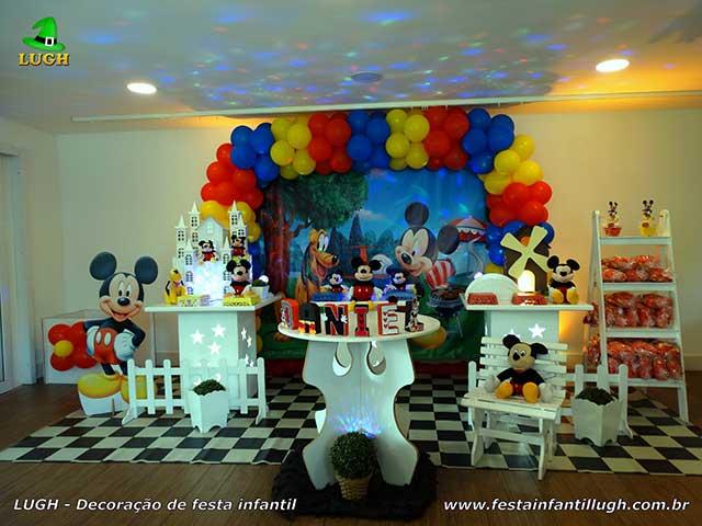 Decoração Mickey provençal para mesa festa de aniversário infantil masculina - Barra RJ