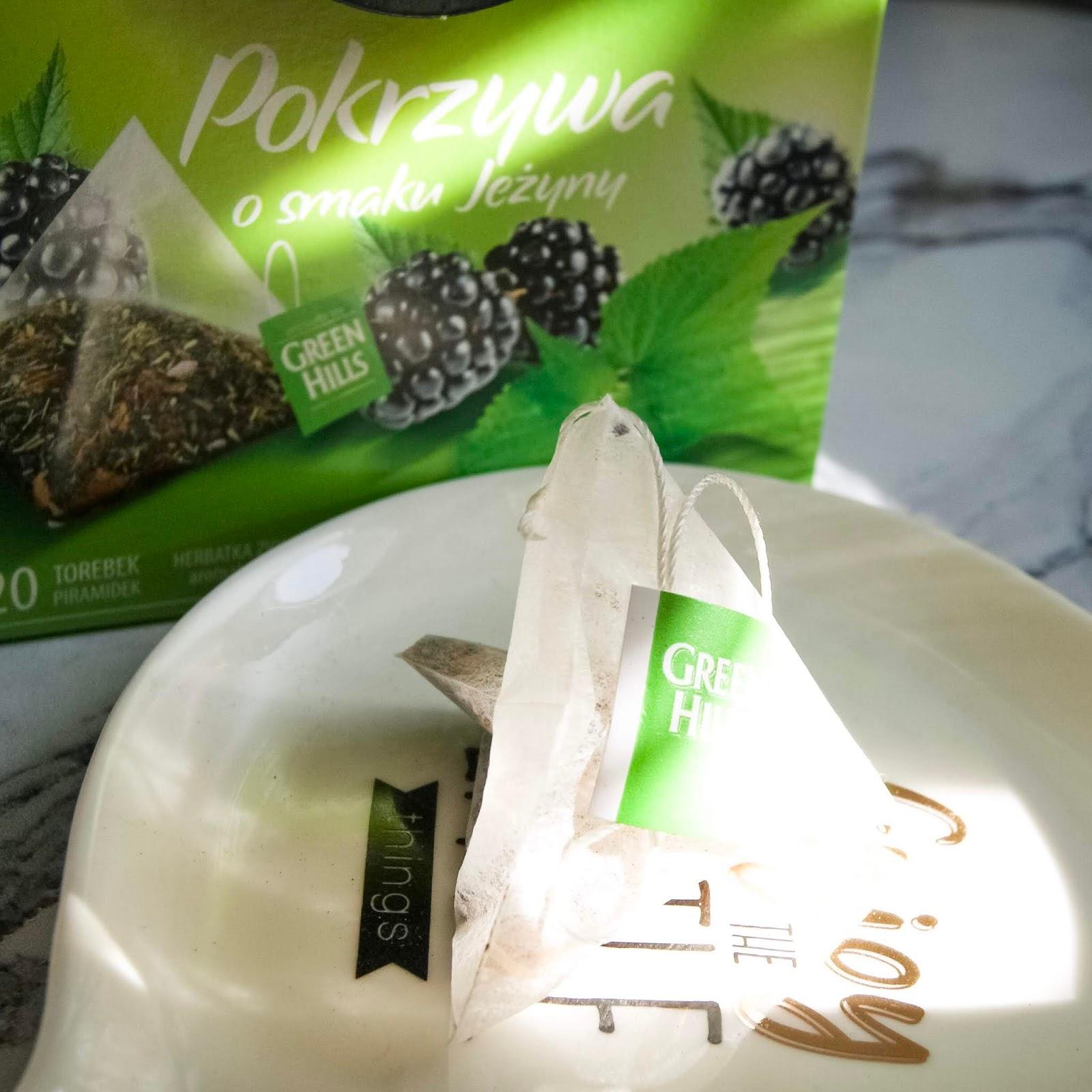 Green Hills Pokrzywa o smaku jeżyny - herbatka ziołowa aromatyzowana recenzja opinie