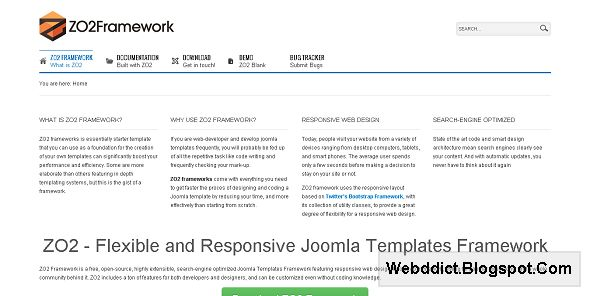 ZO2 - Flexible and Responsive Joomla! Templates Framework