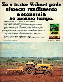 propaganda trator Valmet 1977, Valmet anos 70, trator florestal década de 70, Oswaldo Hernandez,