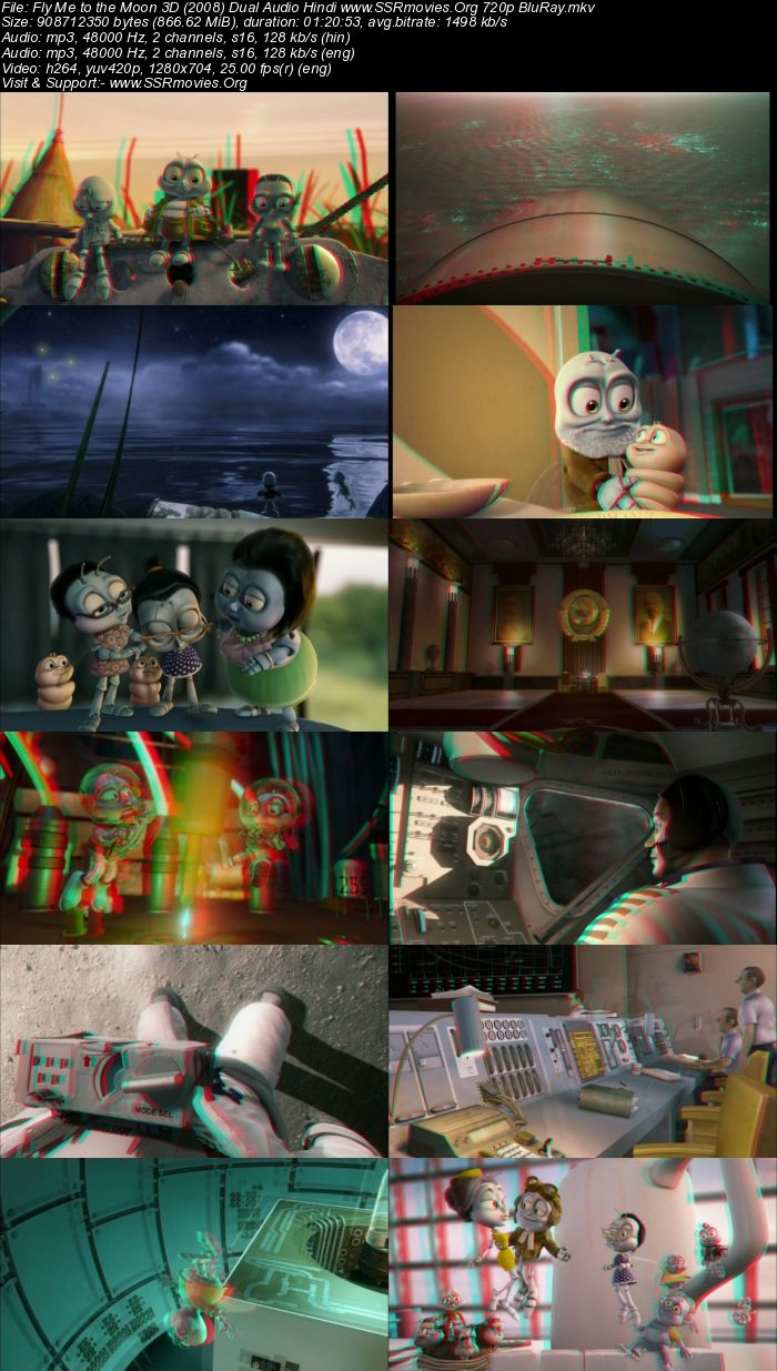 Fly Me to the Moon 3D (2008) Dual Audio Hindi 720p BluRay
