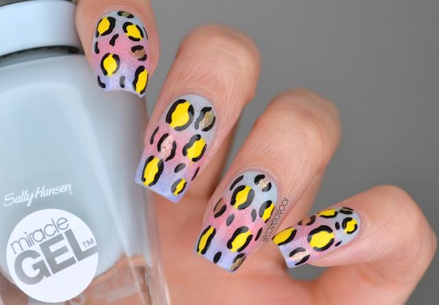 Pastel Punk Leopard Print Nail Art