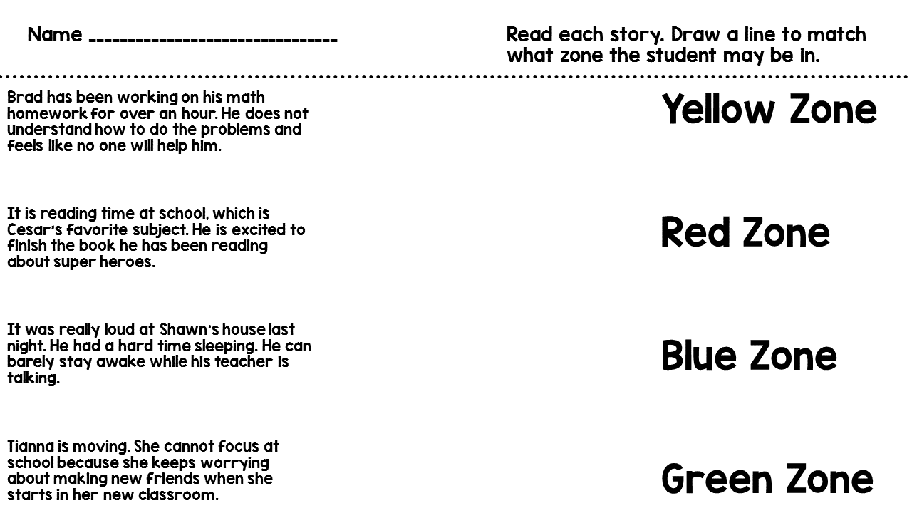 Miss behavior 2016 after we talk about the zones we complete these worksheets for a few days these can be done in stations pairs or whole group ibookread Download