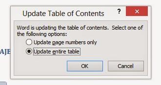 Cara Cara Untuk Membuat Table Of Contents