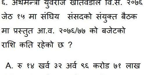 Current Affairs of Nepal 2019 Online Practice Quiz set - 2