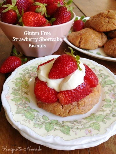 Gluten Free Strawberry Shortcake Biscuits from Recipes to Nourish