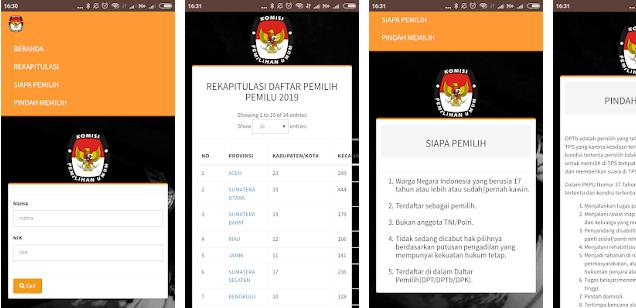 Cara Cek Nomor TPS Kita dari Smartphone Android