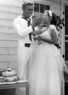 My Grandpa and Grandma at their wedding